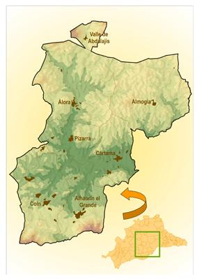 mapa situacion guadalhorce